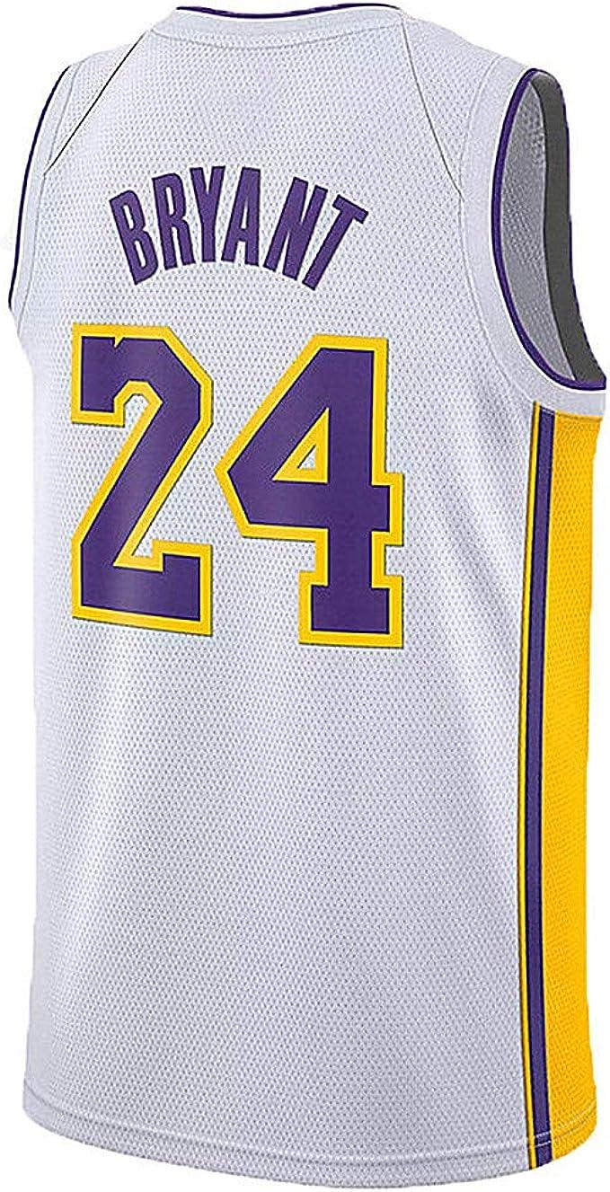 Amazon.com: MIHSDFH Youth Kobe Jersey Los Angeles 24 Kid's Bryant ...