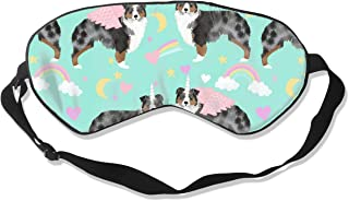 Australian Shepherd Dog Dog Blue Merle Aussie Au Silk Sleep Mask Comfortable Blindfold Eye mask Adjustable for Men, Women or Kids
