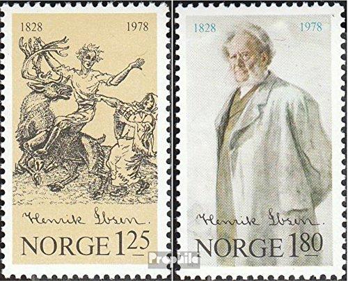 Prophila Collection Noruega Michel.-No..: 764-765 (Completa.edición.) 1978 Henrik Ibsen (Sellos para los coleccionistas)