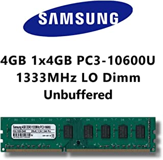 Samsung 4GB (1x 4GB) DDR31333MHz (PC310600U) lo-dimm Memoria RAM Memory