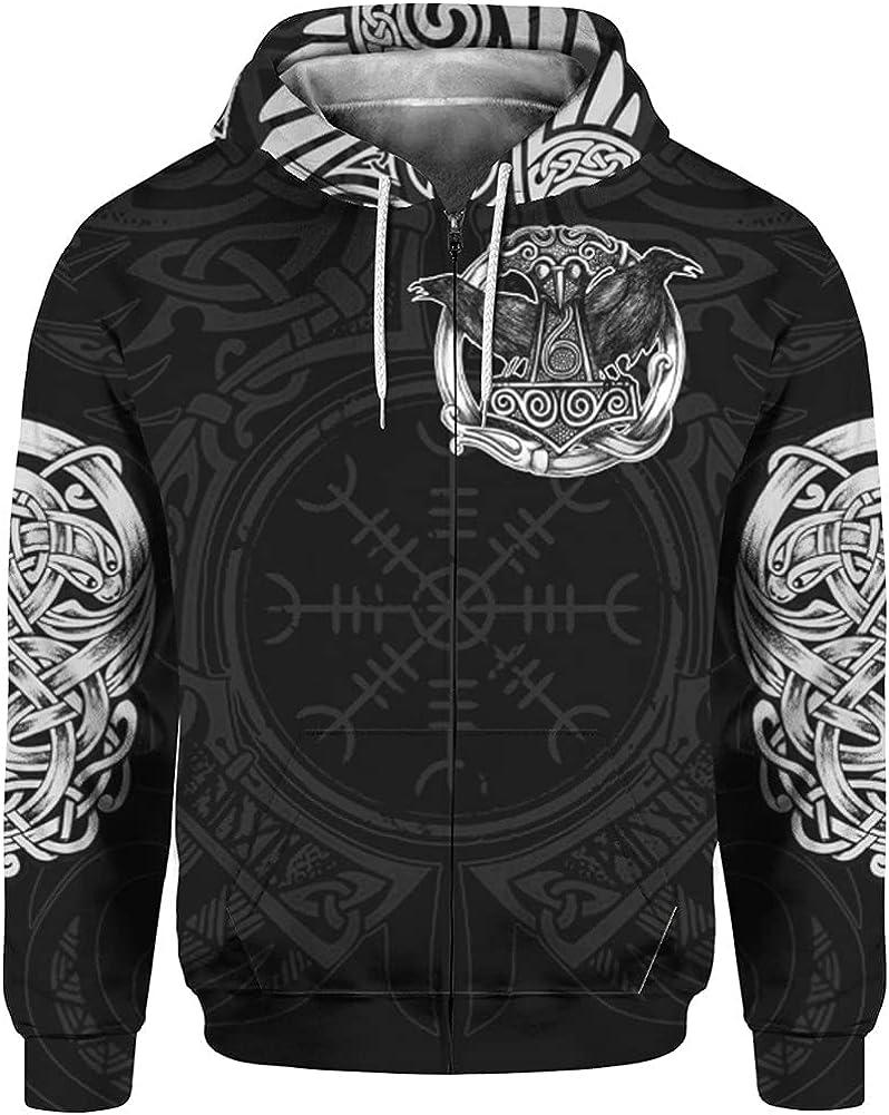 Mens Viking Mjölnir Novelty Tracksuit Pullover Sweatshirt