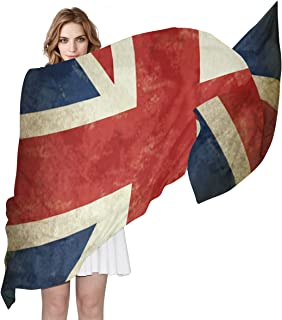 SEULIFE Women's Silk Scarf Britain England UK Flag, Fashion Lightweight Large Scarf Sheer Shawl Wrap