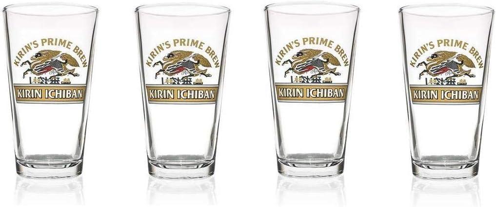 Kirin free shipping Ichiban Beer Super sale Glasses 16 oz. Japanese Set 0 Brew Prime