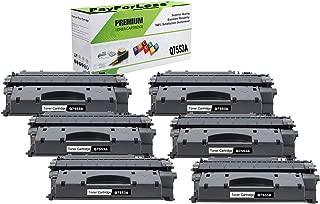 PayForLess 53A Q7553A Toner Cartridge Black 6PK Compatible for HP Laserjet P2014 P2015 P2015d P2015dn M2727nf