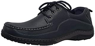 Men's Casual Loafers Lace Up Breathable Wear-Resistant Comfortable Boat Shoes