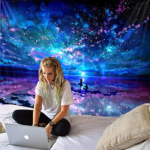 WERT Tapiz de constelación, Tapiz de Planeta Espacial, Tapiz de Galaxia del Universo, Tapiz psicodélico, Mandala, Tela de Fondo A12 150x200cm