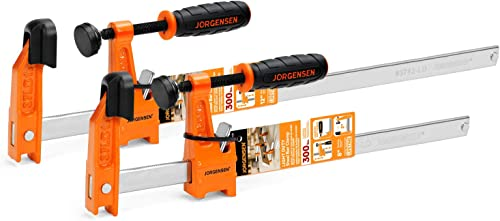 wholesale Jorgensen 2-Piece Steel Bar Clamp Set, popular online Light Duty F-Clamp, 8-inch & 12-inch online