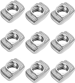 BESTONZON 50Pcs T-Nut,M4 Thread,Slim,Suitable for Climbing Holds,Wood and More M4x10x6