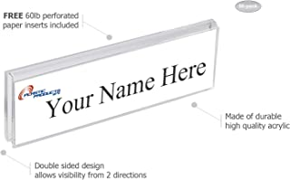 """Glass Wall Name Plate Holders - Double Sided 8-1/2"""" Wide x 2"""" high (50 - PK, 1/2"""" Cubicle Wall)"""