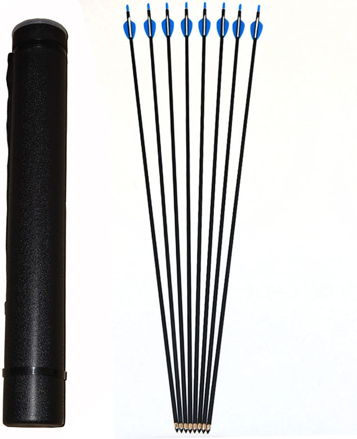 6mm Carbon Arrows Target Shooting Arrows With Black Archery Quiver Tube