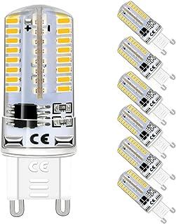 G9 LED Light Bulb Dimmable, 4W(35W Halogen Equivalent), 3000K Warm White, G9 Base Bi Pin ( 6-Pack)