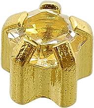 Caflon Blu 24 Carat Gold Plated Clawset April Mini Birthstone Studs, Pack of1