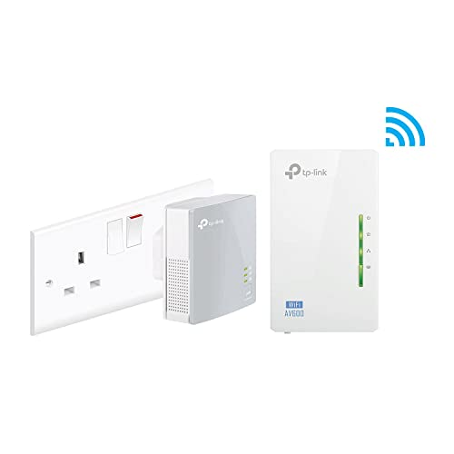 TP-Link TL-WPA4220KIT 2-Port Powerline Adapter WiFi Starter Kit, Range Extender, Broadband/WiFi Extender, WiFi Booster/Hotspot, No Configuration Required, UK Plug