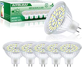 Ledlampen GU5.3, MR16 LED-lamp 12V 5W vervangt 50W halogeen koud wit 6000K, 6er niet dimbaar