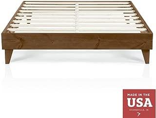 Cardinal & Crest Wood Platform Bed Frame | Modern Wooden Design | Solid Wood Construction | Easy Assembly | King Size Walnut