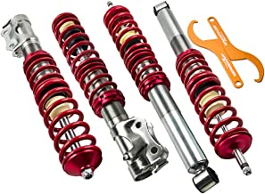 Lowering Suspension Coilover Kit for VW MK2 / MK3 GOLF and JETTA - Red Struts