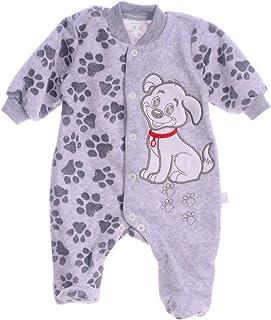 A&O-Malgosia Baby Strampler Einteiler Hund Nicki 50 56 62 68 74 grau Overall