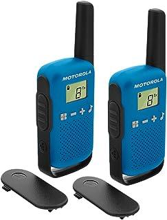 Motorola T42Azul Talk About–Aparatos de Radio (2Unidades, PMR446, 16Canales, Alcance 4km)