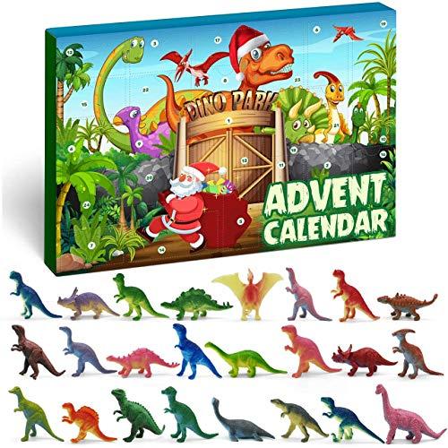 iZoeL Adventskalender Dino Dinosaurier Jungen Kinder 24 Überraschung Weihnachtskalender Geschenk für Kinder ab 4-12 Jahre