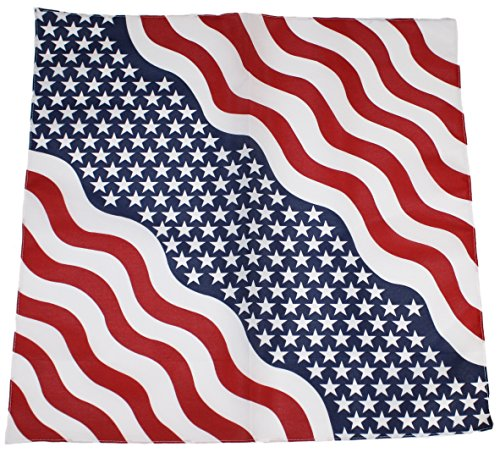 Ted and Jack - All American Stars and Stripes Bandana with Wavy Stripes