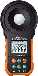 perfk 高精度MS6612ハンドヘルドデジタル照度/照度計、0〜200,000ルクスルクスメータ、LCDディスプレイ付き光度計テスターFC/Luxユニットの選択