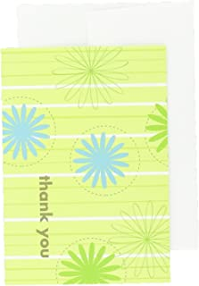 Great Papers! Daisy Stripes Thank You Note Cards with Envelopes, 4.875x3.375, 24 Count (10675)