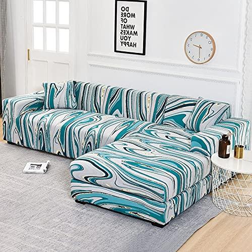 WXQY Funda de sofá de Esquina Funda de sofá elástica para Sala de Estar, Funda de sillón sofá sombreado sofá Todo Incluido Funda de sofá A4 3 plazas