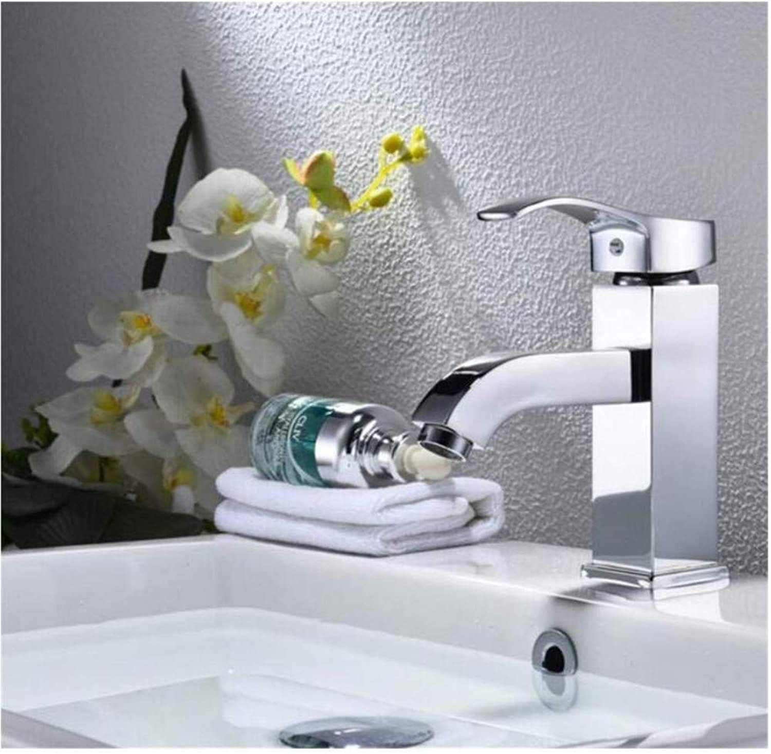 Modern Double Basin Sink Hot and Cold Water Faucettap Cold Hot Water.Single Handle Hole Hot Cold Water Mixer