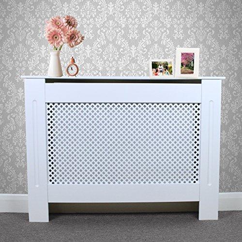 Cubierta de Madera de Tablero MDF para radiador, Color Blanco, Moderna, mobiliario para el hogar, Armario, estantería, 1115mm