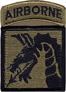 18th Airborne Corps New OCP Patch And Airborne Tab Sewn Together W/Hook Fastener