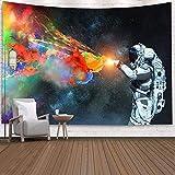 WERT Astronaut Series Tapiz Arte de Pared impresión Digital Manta de Pared Pintura Dormitorio decoración de la habitación Tapiz Colgante de Pared A5 73x95cm