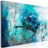 murando Quadro Astratto 120x80 cm - 1 pezzo Stampa su tela in TNT XXL Immagini moderni Murale Fotografia Grafica Decorazione da parete turchese blu a-A-0428-b-a