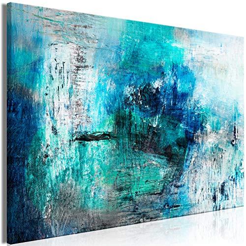 murando - Bilder Abstrakt 120x80 cm Leinwandbild 1 TLG Kunstdruck modern Wandbilder XXL Wanddekoration Design Wand Bild - türkis blau a-A-0428-b-a