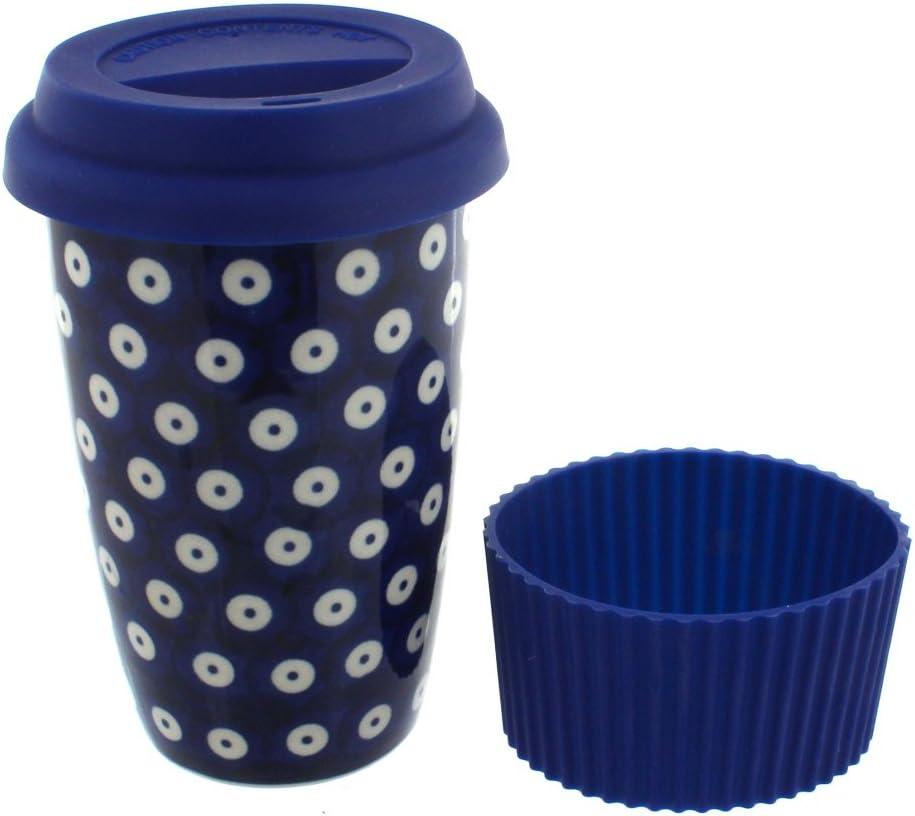 Blue Max 65% OFF Rose Polish Pottery Travel Attention brand Dots Mug Coffee