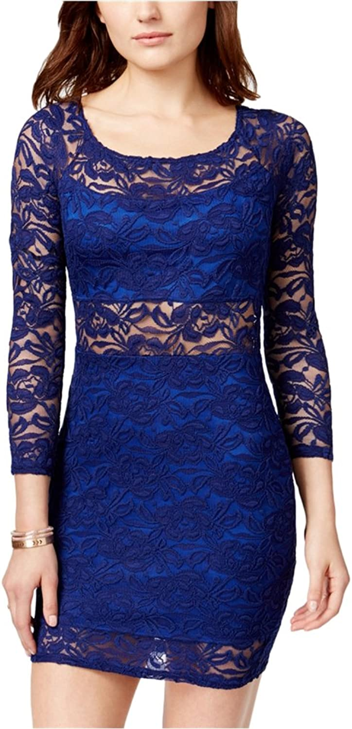 Material Girl Womens Lace Bodycon Dress