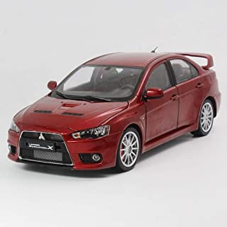 TZSMCMX 1:18 Mitsubishi Wing God Lancer EVO 10 X BBS Ten Generation Car Model Birthday Gift Collection Ornament (Color : Red)