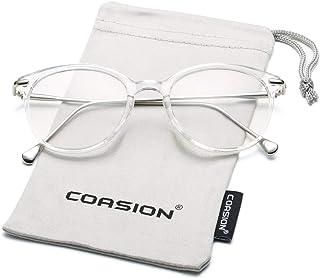 COASION Vintage Round Clear Glasses Non-Prescription...