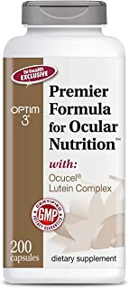 Optim 3 Premier Formula for Ocular Nutrition, The Original Paul Harvey Eye Vitamin for Healthy Vision, 200 Capsules