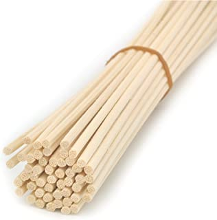 Ougual 100 Pieces Natural Rattan Reed Diffuser Replacement Sticks (12