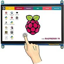 The perseids 7 inch HDMI Touch Screen, 1024x600 TFT LCD Display High Resolution Monitor for Raspberry Pi 4 Model B / 3 B+ / A+ / BB Black/Banana Pi, Support Raspbian, Ubuntu, Win 7/8/10