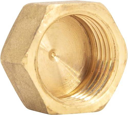 """Bouchon d'obturation de canalisation en laiton – Adaptateur anti-fuite – Avec filetage interne, 3/4"""", 1"""