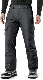 Men's Rip-Stop Snow Pants Windproof Ski Insulated Water-Repel Bottoms