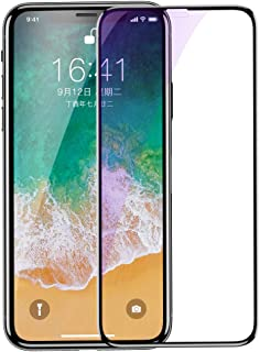 Screen Protector Compatible iPhone Xs Max(6.5 Inch), Baseus Premium Tempered Glass Screen Protector with Blue Light Filtering for iPhone Xs Max, 9H Hardness, Anti-Scratch, 3D Touch, Case Friendly