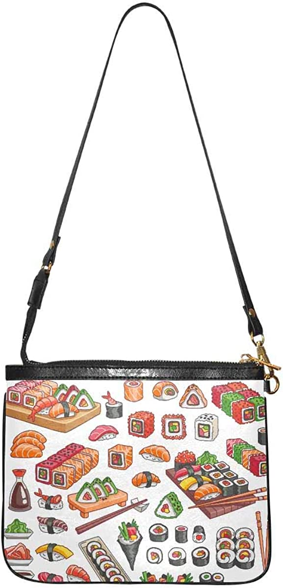 InterestPrint Lightweight Small Crossbody Bag Shoulder Purse Travel Pouch for Women Colorful Psychedelic Mushrooms