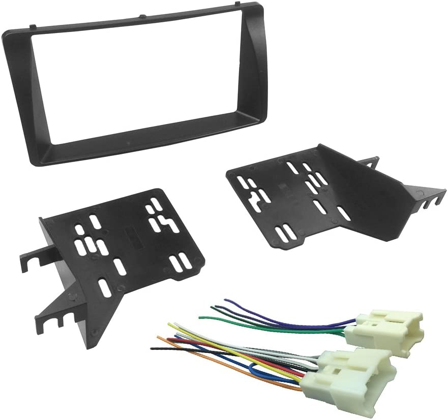 amazon.com: dkmus dash kit for 2003-2008 toyota corolla double din  installation trim fascia bezel w. wiring harness (2-din): car electronics  amazon.com