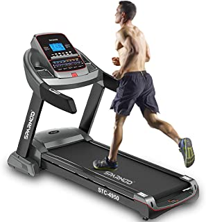 Sparnod Fitness STC-4950 (4.5 HP AC Motor) Semi-Commercial Treadmill (Free Installation Service) - Automatic Motorized Wal...
