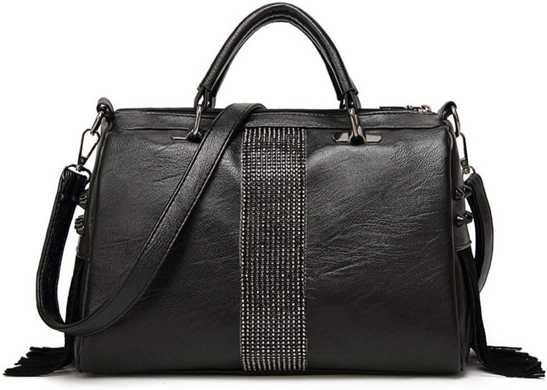 ZHWEI Handtasche ED2631 PU Mode Trend Weibliche Tasche Große Tasche Lässige Umhängetasche Elegant Ms. Messenger Bag 30  12  21CM Schwarz B07H4MGH4J  Moderne und elegante Mode