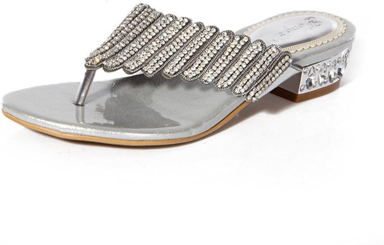 Doris Fashion Women's Evening Wedding Sandals Glitter Rhinestones Flip Flops