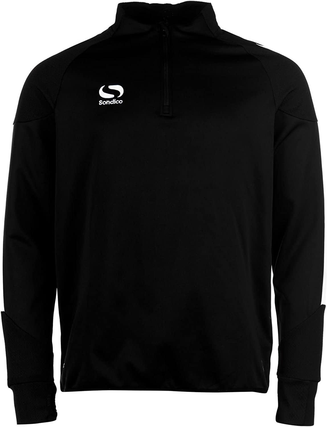 Sondico Evo 1 4 Zip Training Top Mens Black Football Soccer Sweater Sweatshirt