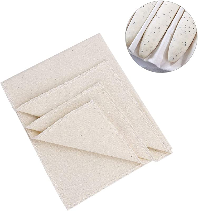 Baguette Cloth McoMce Premium Linen Couche Baking Proofing Cloth For Bread 100 Pure Cotton Bakers Couche Extra Large Bread Linen Sturdy Thick Baking Linen For French Bread Baguettes Loafs Vi